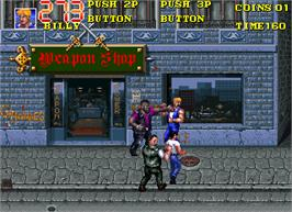 In game image of Double Dragon 3 - The Rosetta Stone on the Arcade.