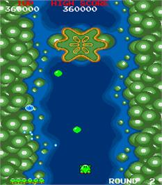 In game image of Dr. Toppel's Adventure on the Arcade.