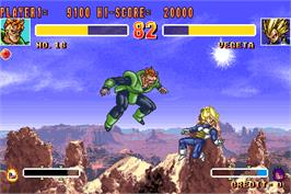 In game image of Dragonball Z 2 - Super Battle on the Arcade.