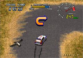 In game image of Drift Out '94 - The Hard Order on the Arcade.