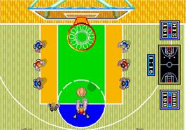 In game image of Dunk Shot on the Arcade.