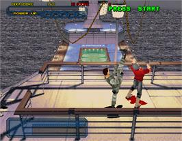 In game image of Dynamite Cop on the Arcade.