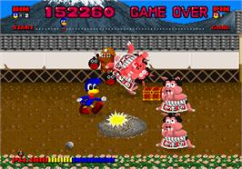 In game image of Dynamite Dux on the Arcade.