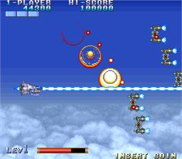 In game image of E.D.F. : Earth Defense Force on the Arcade.