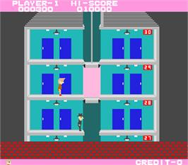 In game image of Elevator Action on the Arcade.