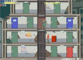 In game image of Elevator Action II on the Arcade.