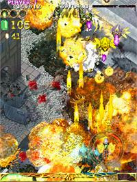In game image of EspGaluda II on the Arcade.