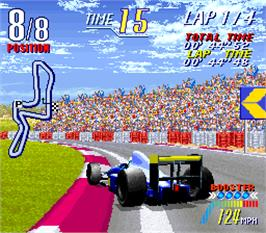 In game image of F-1 Grand Prix Star II on the Arcade.