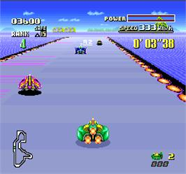 In game image of F-Zero on the Arcade.