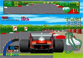 In game image of F1 Exhaust Note on the Arcade.