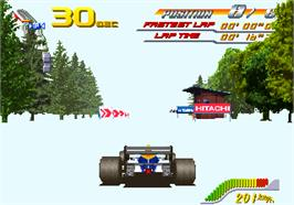 In game image of F1 Super Battle on the Arcade.