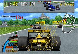 In game image of F1 Super Lap on the Arcade.