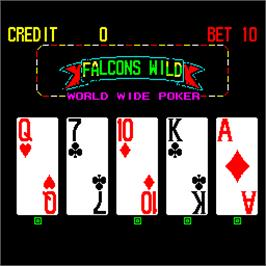 In game image of Falcons Wild - World Wide Poker on the Arcade.
