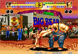 In game image of Fatal Fury 2 / Garou Densetsu 2 - arata-naru tatakai on the Arcade.