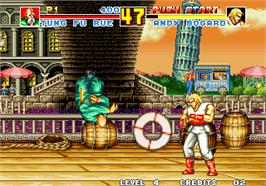In game image of Fatal Fury Special / Garou Densetsu Special on the Arcade.