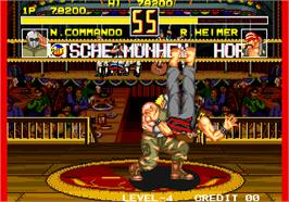 In game image of Fight Fever on the Arcade.