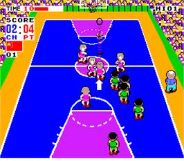 In game image of Fighting Basketball on the Arcade.