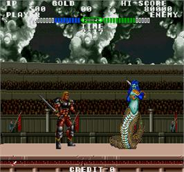 In game image of Fighting Fantasy on the Arcade.