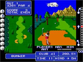 In game image of Fighting Golf on the Arcade.