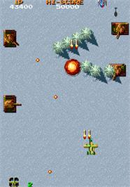 In game image of Fighting Hawk on the Arcade.