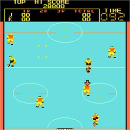 In game image of Fighting Ice Hockey on the Arcade.