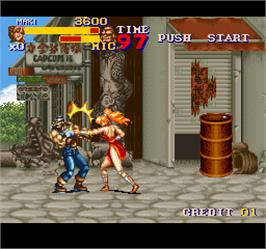 In game image of Final Fight 2 on the Arcade.