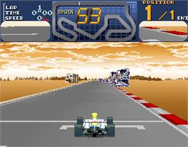 In game image of Final Lap 3 on the Arcade.