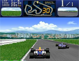 In game image of Final Lap R on the Arcade.