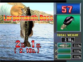 In game image of Fisherman's Bait - A Bass Challenge on the Arcade.