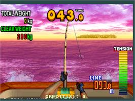 In game image of Fisherman's Bait - Marlin Challenge on the Arcade.