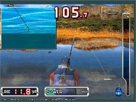 In game image of Fisherman's Bait 2 - A Bass Challenge on the Arcade.