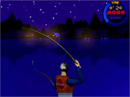 In game image of Fishing Maniac 3 on the Arcade.