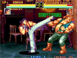 In game image of Fit of Fighting on the Arcade.