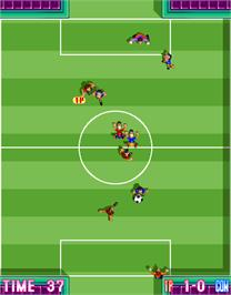 In game image of Five a Side Soccer on the Arcade.