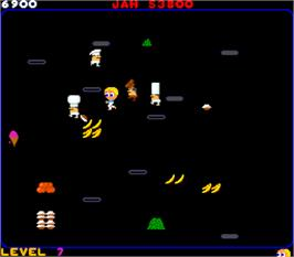 In game image of Food Fight on the Arcade.