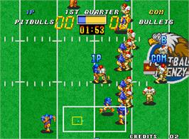 In game image of Football Frenzy on the Arcade.