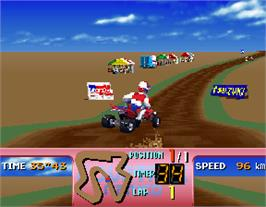 In game image of Four Trax on the Arcade.