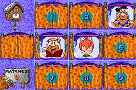 In game image of Fred Flintstones' Memory Match on the Arcade.