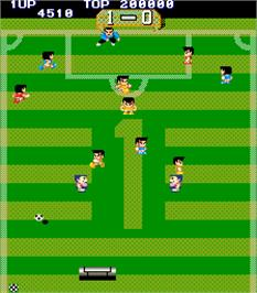 In game image of Free Kick on the Arcade.