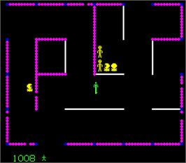 In game image of Frenzy on the Arcade.