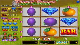 In game image of Fruit Bonus 2nd Edition on the Arcade.