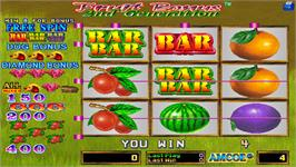 In game image of Fruit Bonus 2nd Generation on the Arcade.
