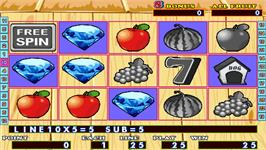 In game image of Fruit Bonus Deluxe on the Arcade.