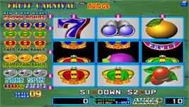 In game image of Fruit Carnival Nudge on the Arcade.