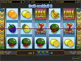 In game image of Fruit Cocktail 2 on the Arcade.