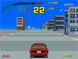 In game image of Full Throttle on the Arcade.