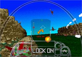 In game image of G-LOC R360 on the Arcade.