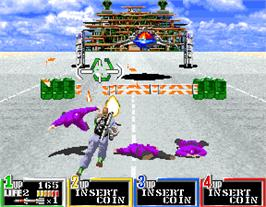 In game image of G.I. Joe on the Arcade.