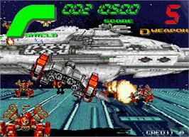 In game image of Galactic Storm on the Arcade.