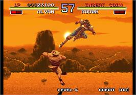 In game image of Galaxy Fight - Universal Warriors on the Arcade.